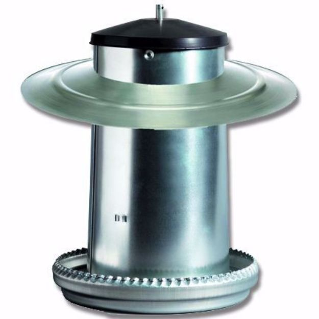 Picture of Supreme Galvanised Poultry Feeder (with cover) 5KG