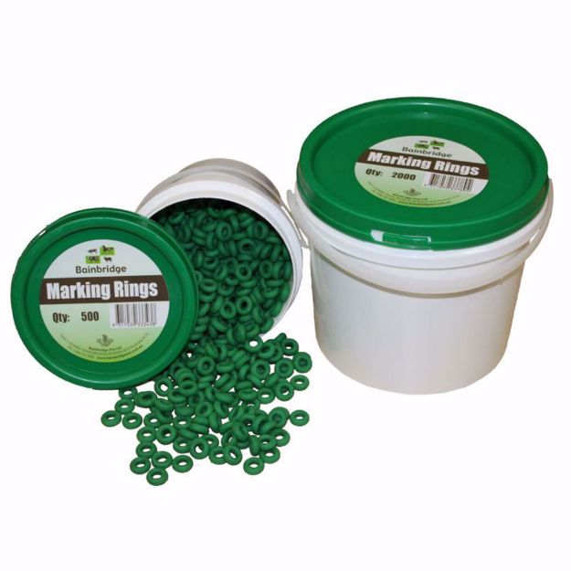 Picture of Marking Rings Green - 100 PK