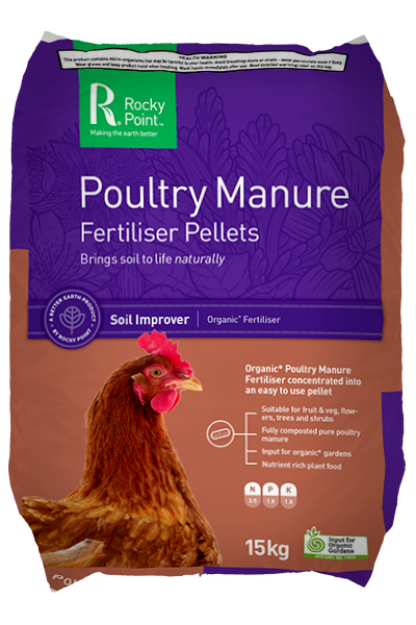 Picture of Rocky Point Poultry Manure Fertiliser Pellets 15kg