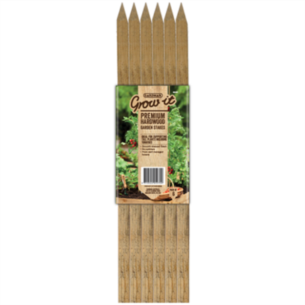 Picture of Hardwood Garden Stakes 12 x 12 x 900mm (6PK)