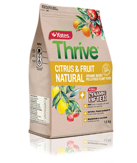 Picture of Yates Thrive Natural Citrus & Fruit Organic Based Pelletised Plant Food 1.5kg