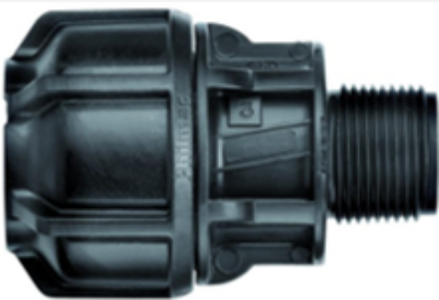 """Picture of Philmac 40mm x 1-1 / 2"""" Male Pipe End Connector"""