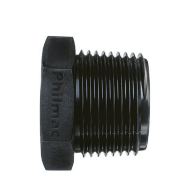 """Picture of Philmac 1-1/2"""" Threaded BSP Pipe Plug End"""